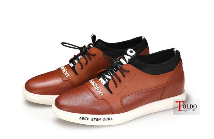 Giày cao nam thể thao màu nâu