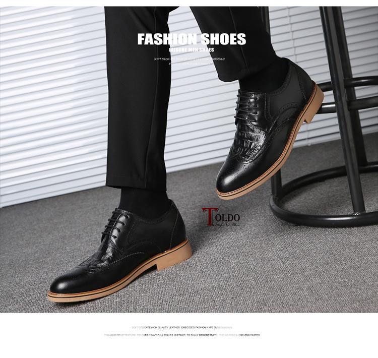 Giày cao nam 7cm chất lượng HQ5688 Đen