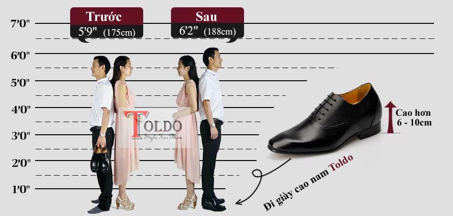 Giày cao nam, giải pháp tăng chiều cao cho nam
