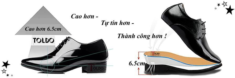 Cấu tạo giày cao nam Toldo